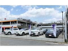 U-Car展示場は、道を挟んだ前方にございます。お気軽にゆっくりとご覧くださいませ。