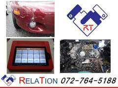 購入後のアフターメンテナンスも力を入れています!!テスター・事故修理・板金お車の整備ならお任せください!