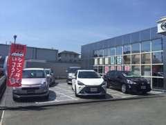 U-Car展示場は、店舗入り口すぐ左手にございます。お気軽にゆっくりとご覧くださいませ。