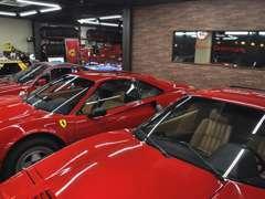 328・308を中心としたフェラーリやフィアットX1/9などライトウェイトスポーツカーに特に力を入れております。