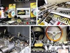 旧車に関する様々な物を取り扱っております。見ているだけでも楽しくなります。