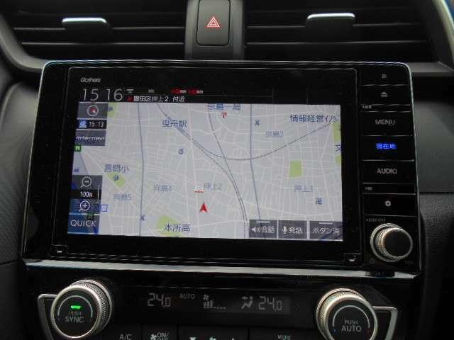 ナビゲーション装備。CD/DVD/Bluetooth/フルセグがご利用いただけます。