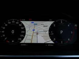 高解像度インタラクティブドライバーディスプレイはナビゲーション、電話、各種メディアなど多彩なドライビング情報とエンターテインメント、アクティブセーフティデータを取得して表示するシステム。