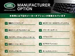 こちらのお車には、上記の標準、及びオプション装備が搭載させております。