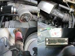 GREDDYブローオフ 社外エアクリ 車高調 電動ファンコントローラー