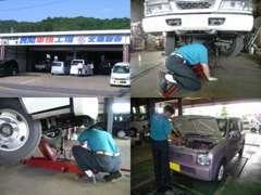 お客さまの大切なお車を、心を込めて整備しています(^^)