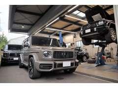 自社認証工場完備です。(認証許可番号70-2303)車検・板金・一般修理・お客様以上にお車に関することを考えております。