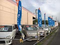 しまむら吹上店横の展示場☆お手頃な軽自動車メインのラインナップです!