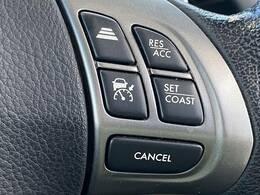 レーダークルーズコントロール装備。アクセルを踏まなくても一定の速度で自動的に走行することができますよ。
