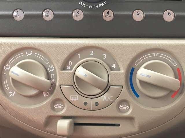 【マニュアルエアコン】 自分手動でスイッチやレバーを操作して自分で快適温度になるよう操作出来ます!