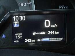 残ガソリンで走れる距離が数値でわかりますので、安心です(^^♪