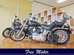 バイク好きの方も歓迎しています。バイク販売も承ります。
