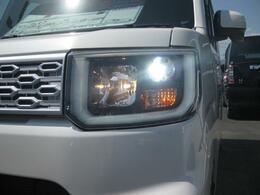 夜道も安心、LEDヘッドランプ!