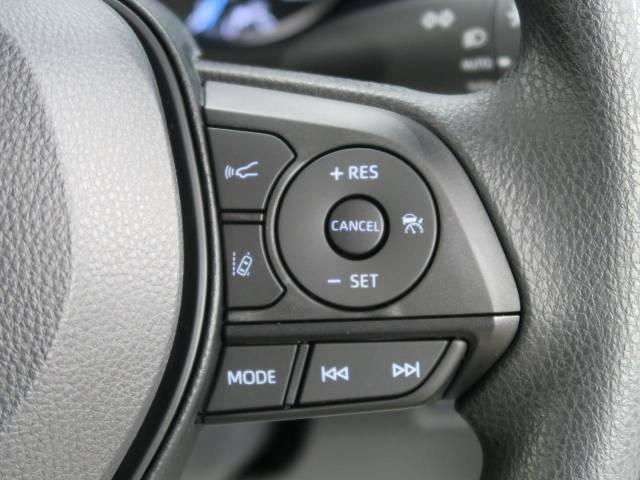 レーダークルーズコントロール高速道路走行時、白線の検知や前方のクルマを検知し、ハンドル操作のサポートや一定の車間距離での走行をしてくれます♪