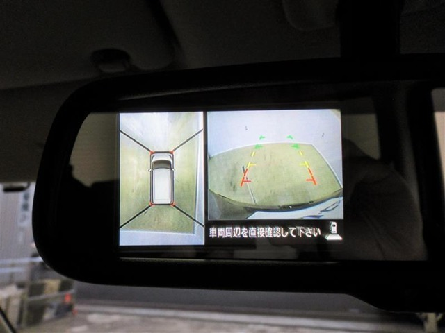 全方位カメラを装備!四方のカメラでまるで上から見たような画像で駐車をサポートします。バックカメラもガイドライン付です。安全のため、目視も忘れずに。。