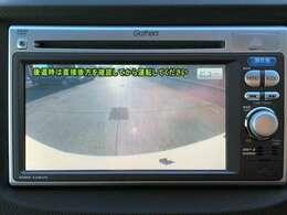 バックカメラも標準装備。駐車に抵抗のある方も安心です