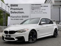 BMW M3セダン M DCT ドライブロジック Mサスサキールオレンジ革LEDライト純正19AW