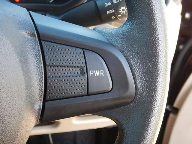 【ステアリング部】力強い走りのDアシスト(PWRモード)切替スイッチです♪