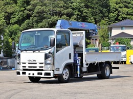 いすゞ エルフ 3t 4段クレーン付 ラジコン ロング BKG-NMR85AR