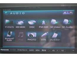 Bluetoothオーディオ・ミュージックサーバー・DVD再生の機能付きです。