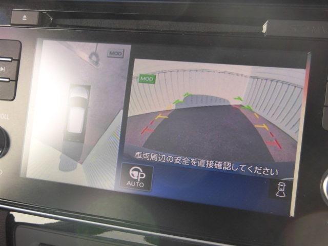 まるで上空から見下ろしているような感じで駐車が楽にできるインテリジェントアラウンドビューモニター!幅寄せが苦手な方でもサイドビューで確認することができますよ♪