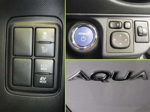 プッシュ式エンジンスターターは扱いやすく便利です!電動格納式ドアミラ-はミラ-角調整も電動で行えます。走りのスタイルが選べるモ-ドセレクト機能装備。