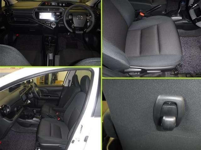 整然と纏められた操作性の良いスイッチ類。エレガントで心地良いドライビングが出来ますよ!快適な広さとクッション性で乗る方を優しくサポートします。シート背面には、重宝なショッピングフック付き。
