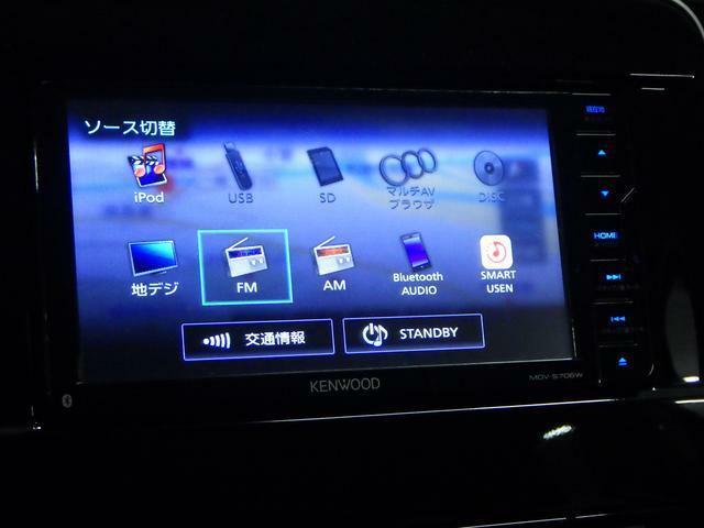 CD/DVD再生やBluetoothオーディオなど 多彩なメディアに対応した メモリーナビを装備しています。