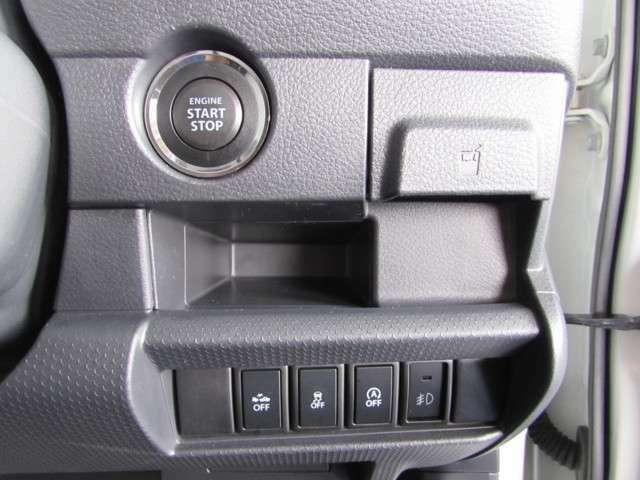 スタートボタンをワンプッシュでエンジン始動ができます。衝突回避支援システム他充実装備の一台です。