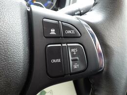 アダプティブクルーズコントロールを装備!ペダル操作なしで設定速度を保ちます。先行車がいる場合には、追従します。
