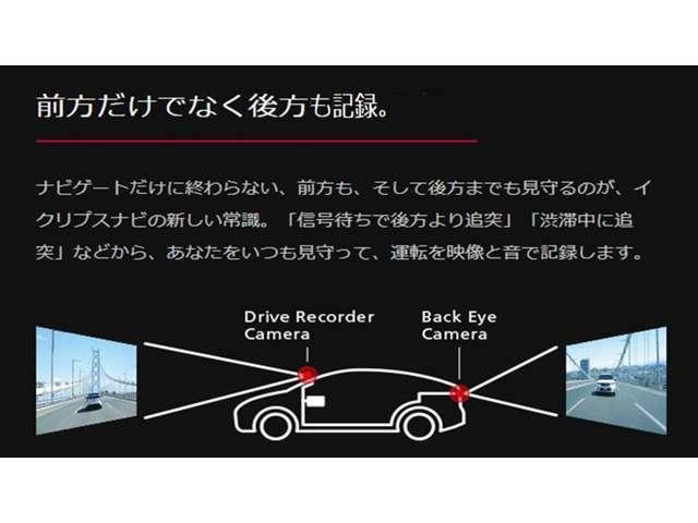 Aプラン画像:前後録画機能により、信号待ちでの追突、渋滞時の衝突にも対応しています。