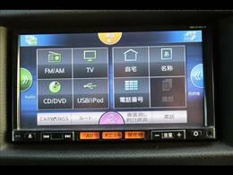 カロッツェリアナビを装備。フルセグTV、ブルートゥース接続、DVD再生可能、音楽の録音も可能です。