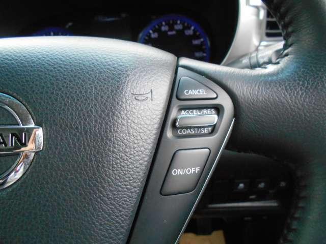 クルーズコントロールで速度を維持して高速での運転の疲れを軽減してくれます。