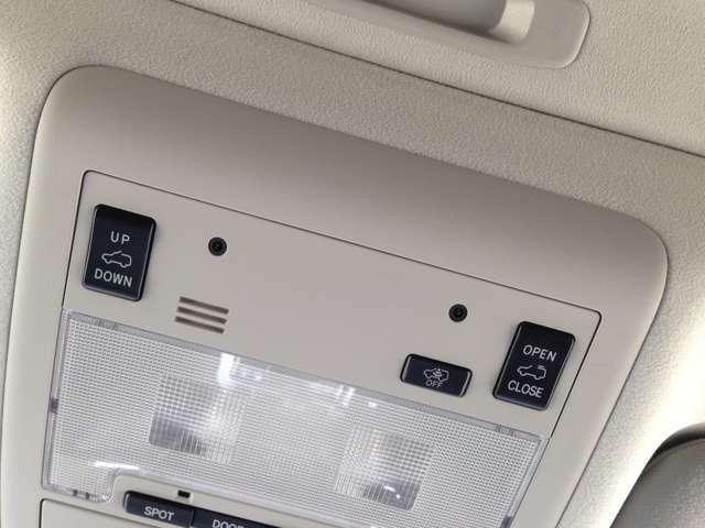 車両の施錠後に傾斜を検知して、オートアラームで警報を発するセキュリティーシステムの、傾斜センサー付オートアラーム&室内に爽やかな風と光を採り込める、チルト&スライド電動ムーンルーフ開閉スイッチ!