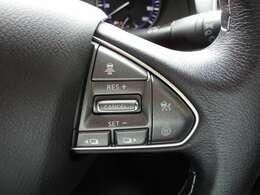 インテリジェントクルーズコントロール  設定した車速を上限として車速に応じた車間距離を自動的に保ちながら走行する事ができます。ドライバーの負担を軽減し快適な走行を提供します。