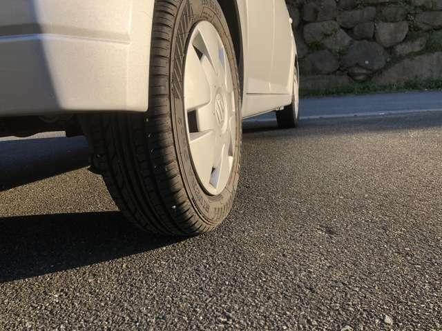 タイヤはまだまだ走れますが気になるお客様には格安でのタイヤ交換を致します。ご相談ください。