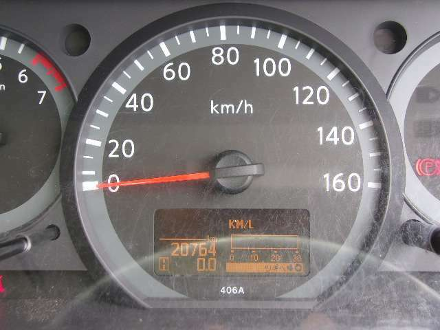 メーターの画像です。走行21000kmです!