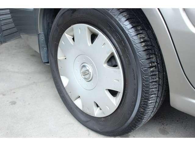 タイヤの残り溝もOKです