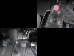 走りの5速マニュアルミッション☆シフトやクラッチも過度なクセやあそびもなく状態良好です!操りやすく運転しやすいです!!4WD⇔2WDの切り替えもスイッチ一つでできちゃいます!