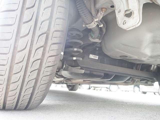 タイヤは残り溝十分。
