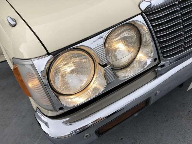 ロデオストリート専用スタイル 丸目4灯ライト メッキバンパー ローダウン ベンチコラム6人乗り HDDナビ 地デジ バックカメラ ETC キーレス D席パワーシート タイベル交換済み