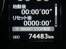 走行距離はおよそ74,000kmです。