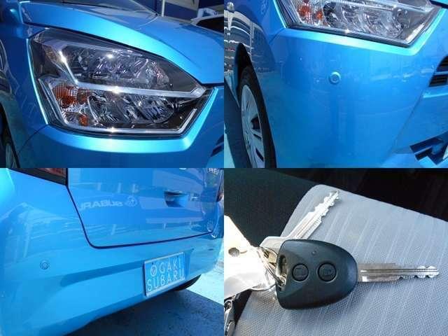 夜間明るく快適で見た目もスタイリッシュな『LEDヘッドライト』!!狭い通路や駐車時に役立つ『コーナーセンサー』!!便利な『キーレスキー』はもちろん標準装備です!!!