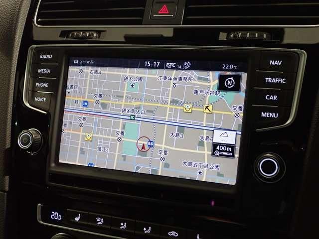 8インチ大画面ナビ、スマートフォンを連携することも可能です