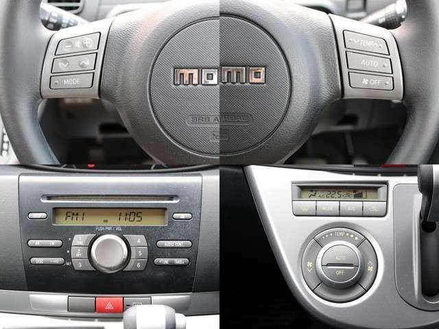 ステアリングスイッチも装備しており、オーディオ廻りを操作可能☆運転中に視線を逸らさなくていいので便利な装備です★
