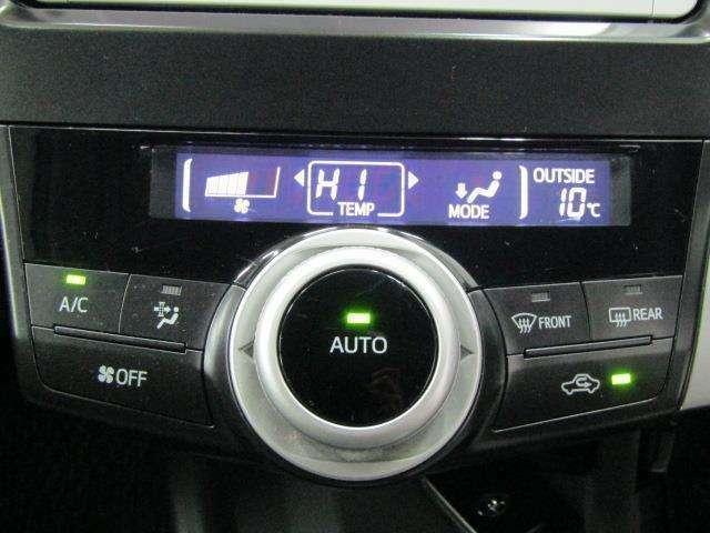 エアコンコントロールはワンダイヤルで、ダイヤルを傾けることにより、設定温度、風量、吹き出し口と切り替えることができます。