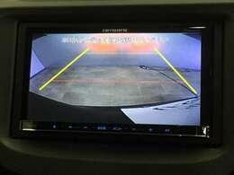 安心して車庫入れができるリバース連動リアカメラが装着されています。狭い駐車場はもちろん、雨の日や夜間でもストレスなく運転していただけますよ。