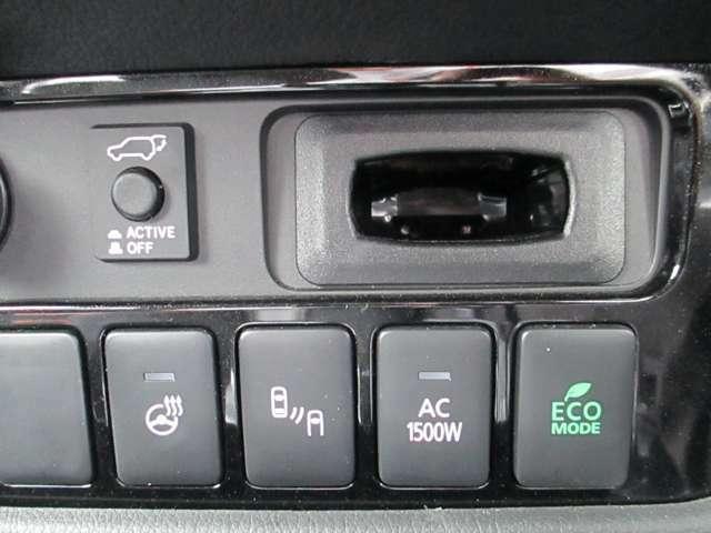 ハンドルヒーター、後方車両検知警報システム、電源からAC100vの給電、ECOモード搭載です!