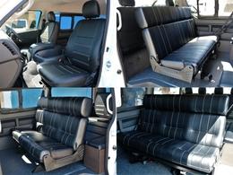 アレンジASの特徴とも言える2列目バタフライベンチシートです。快適で豪華な前向き乗車は勿論、後ろ向き乗車や、車中泊フルフラットモードへの組み換えも可能です。