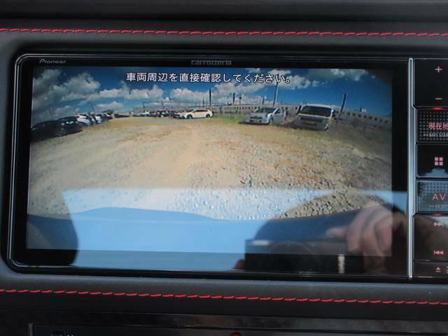 リヤビューカメラ付で駐車の際にも安心です!